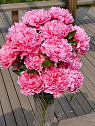 1 Ast Kunststoff Pfingstrosen Boden-Blumen Künstliche Blumen 40*40*70