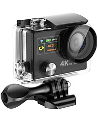 NAWAY® Action Camera 16MP 4608 x 3456 WiFi Waterproof 2.4Gwireless Remote Control Wide Angle  60fps 30fps 4x 2EV 2 CMOS 32 GB H.264 Single Shot70 M30