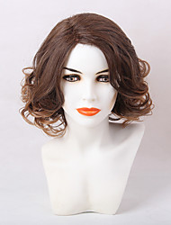 Comfortable Mixed Color Medium Long Curly Hair Synthetic Wig
