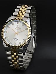 CHENXI® Мужской Нарядные часы / Кварцевый Японский кварц Нержавеющая сталь Группа Винтаж Повседневная Cool Серебристый металл Золотистый