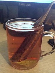 1Pcs  Strainer Amazing Stainless Steel Tea Infuser Pipe Design Touch Feel Good Tea Tool
