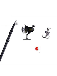 Fonoun Sea Fishing Rod Fly Rod Ice Fishing Rod FRP 165cm Ice Fishing Rod  with Reel Hook Float for Children FT15
