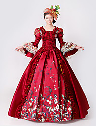Steampunk®Marie Antoinette Masquerade Victorian Queen Ball Gown Wedding Dress Reenactment Red Rococo Ball Gown