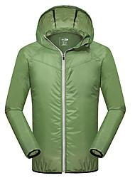 Men's Raincoat/Poncho Tops Camping / Hiking Fishing Cycling/BikeWaterproof Windproof Rain-Proof Front Zipper Dust Proof Anti-Insect