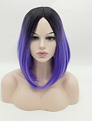Synthetic Wigs 1B/Purple Color Short Cheap Bob Wigs Heat Resistant For Afro Women