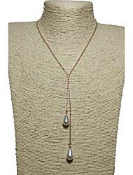 Women's Pendant Necklaces Imitation Pearl Pearl Imitation Pearl Alloy Single Strand Drop Unique Design Dangling Style Multi-ways WearGold