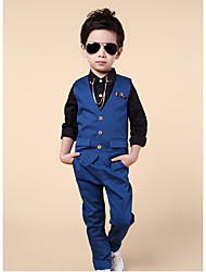 Boys' Formal Going out Casual/Daily Solid Sets,Cotton Spring Fall Clothing Set
