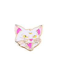 Women's Boys´ Girls´ Brooches Enamel Alloy Animal Design Adorable Personalized Heart Animal Shape White JewelryWedding Party Special