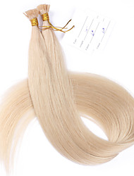 #60 Lightest Blonde 100g Flat Tip Hair Extensions 10A Best Quality Peruvian Remy Human Hair Keratin Fusion Hair Extensions 100 Strands Nail Tip Hair