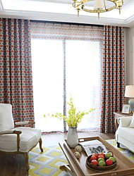 Two Panels European Style  Printed Curtains Living Room Bedroom Dining Room Children's Room Curtain