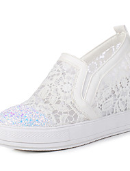 Women's Sneakers Club Shoes Synthetic Tulle Spring Summer Fall Office & Career Dress Party & Evening Sequin PlatformWhite Black Blushing