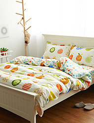 Cotton Simple Cartoon Small Fresh Spring Fruit Bed 4 Sets