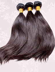 "3pcs/lot 12""-30"" Unprocessed 6A Brazilian Virgin Hair Dark Brown Silky Straight Human Hair 100% Human Hair"