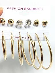 Imitation Pearl Round Stud Earrings Hoop Earrings Earrings Set Jewelry Dangling Style Multi-ways Wear Wedding Party Daily CasualPearl