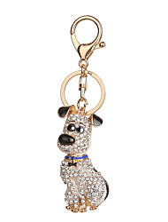 Key Chain Dog Key Chain Red Blue Metal