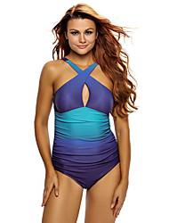 Women's Wavy Ocean Flavor One Piece Swimsuit