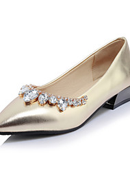 Women's Loafers & Slip-Ons Summer Fall Comfort Light Soles Patent Leather Office & Career Dress Casual Low Heel Chunky Heel Rhinestone