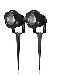 High Power Outdoor Waterproof Decorative Lamp Lighting 10W COB LED Landscape Garden Wall Yard Path Light 220v w/ Spiked Stand US 2 Pack