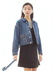 Kim lot Japanese Pavilion Sign denim jacket female long-sleeved denim jacket Korean female short paragraph