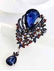 Water Drop Glass Pendant Brooch