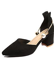 Women's Heels Spring Summer Fall Comfort Leatherette Office & Career Dress Chunky Heel Imitation Pearl