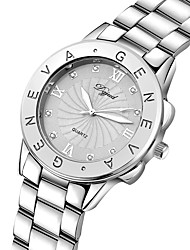 Women's Fashion Watch Quartz Alloy Band Silver Gold Rose Gold