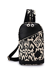 Moda impressão casual mini saco de peito mulheres lona mini mochila mochila