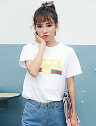 signe 8909 # 2017 nouveau coton imprimé t-shirt personnalisé à manches courtes T-shirt étudiantes