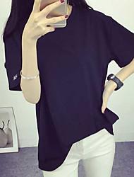 Zeichen-Brief harajuku Stil Stickerei halb-sleeved Paar Freundinnen Student Kurz-sleeved T-Shirt