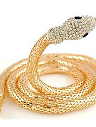 Women's Chain Necklaces Alloy Simulated Diamond Animal Shape Snake Euramerican Gold Jewelry Party Daily Casual 1pc