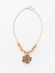 Necklace / Pendant Necklaces Jewelry Birthday Daily Casual Flower Flower Style Alloy 1pc Gift Gold Silver