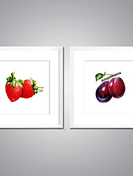 Canvas Prints Fruits  Picture Print on Canvas with White Frame Strawberry Canvas Art for Wall Decoration