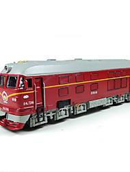 Trem Carrinhos de Fricção 1:87 Metal Plástico Vermelho Verde Azul