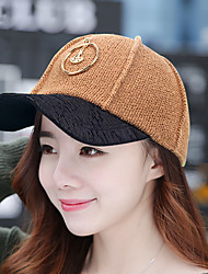 Outdoor Sunscreen Knitting Hoop Baseball Cap Fitted Snapback Hat for Men Women Unisex