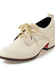 Women's Heels Summer Fall Club Shoes PU Fleece Office & Career Party & Evening Dress Low Heel Lace-up