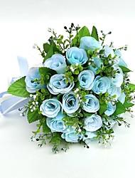 Fleurs de mariage Rond Roses Bouquets Mariage La Fête / soirée Satin