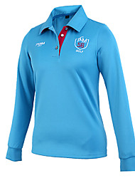 Sports Women's Golf Tops Breathable White Red Black Blue Golf S M L XL