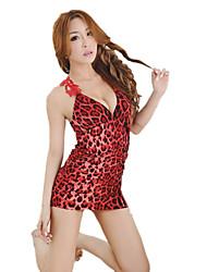 Feminino Super Sensual Roupa de Noite,Sensual Leopardo,Fino Outros Mulheres