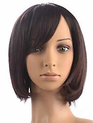 Peruca preta curto peruca bobo fibra sintética peruca diária peruca moda