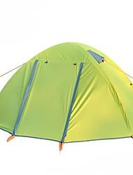 2 Pessoas Duplo Um Quarto Barraca de acampamentoEquitação Campismo Viajar-Verde Laranja