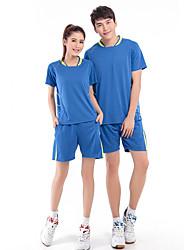 Ensemble de Vêtements/Tenus(Bleu Pêche) -Sport de détente Badminton-Homme-Respirable Confortable
