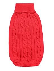 Perro Abrigos Suéteres Ropa para Perro Fiesta Casual/Diario Boda Moda Navidad Año Nuevo Sólido Rojo Verde Azul Rosa Azul Claro
