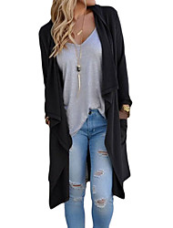 Women's Drapery Open Front Back Slit Oversize Coat