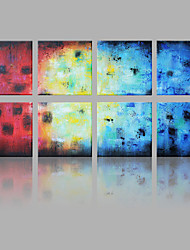 IARTS®Hand Painted Oil Painting Abstract Color Pieces with Stretched Frame Set of 8