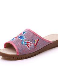 Women's Sandals Spring Summer Fall Slingback Comfort Fabric Casual Flat Heel Flower