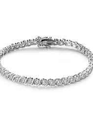 Femme Chaînes & Bracelets Bijoux Argent sterling Naturel Mode Forme de Cercle Argent Bijoux 1pc