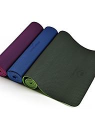 TPE Mats Yoga Non slittamento Appiccicoso Impermeabile Asciugatura rapida 6 mm Rosa Verde Viola