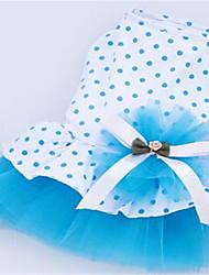 Chien Robe Vêtements pour Chien Mignon Pois Polka Orange Bleu