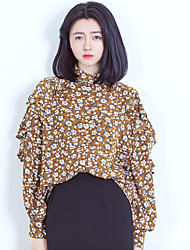 Women's Casual/Daily Simple Boho Blouse,Floral Stand Long Sleeve Others