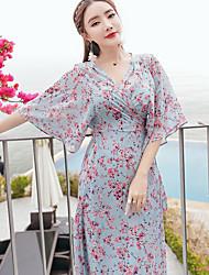 Signe sling robe en mousseline de soie bretelles fente balnéaire plage robe robe bohème